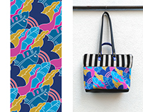 "Textile Design for ""Anuscas Family"" Bags brand"