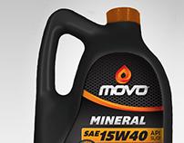 Naming y branding para línea de lubricantes Movo.