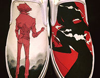 Custom Painted Cowboy Bebop Kicks