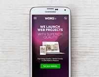WORQ.com.ar Web Design