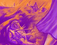 Ilustração poster scifi