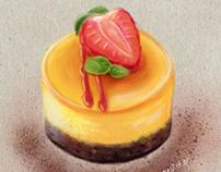 Mango and White Chocolate Cheesecake 171201