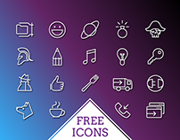 Free 500 iOS Line Icons