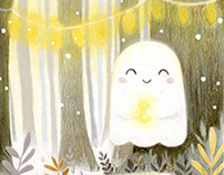 Little ghost and lanterns