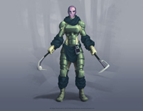 Future soldier - character design process, concept art