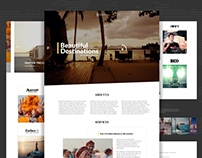 Beautiful Destinations Landing Page Redesign