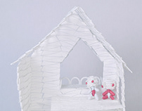 Dental Floss Pick Doll House