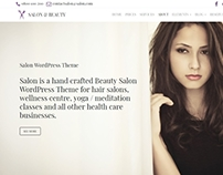 Salon WordPress Theme - Top Header Section