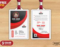 Minimalist Photo ID Cards Template PSD