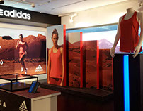 Escaparate Adidas Climachill - Intersport Barcelona