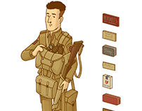 d-day US paratrooper equipment