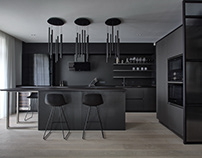 Kitchen Black Cement by Anova