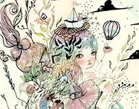 "Fantasy Illustration ""growing up"""