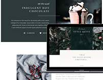 Christmas styling website and mobile design (Concept)