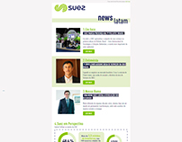 Diseño y desarrollo de Newsletter para Suez Brasil