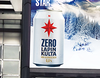 Lapin Kulta Zero beer Key visual