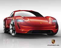 Porsche Mission E Red