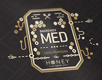 Honey Days logo and label design
