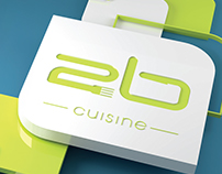 2B Cuisine 3D logo and Menu design