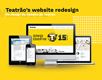 Teatrão's Website Redesign