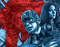 Captain America: Winter Soldier Screen-Print
