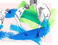 C O L L A G E / Acrylic & Watercolor Illustration