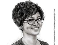 Actress parvathy menon - Realistic Pencil drawing
