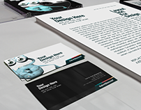 Business Card, Letterhead CD and App Muckup