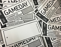 Gameday Garment Co. Hang Tags