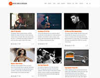 Blog Masonry Page - Music WordPress Theme