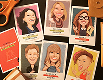 CARICATURE: card set for U of I Creative Services dept.