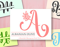 Albanian Olive Monogram