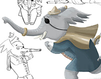 Pirate Elephant - Character Design