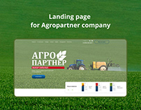 Landing page for Agropartner comany
