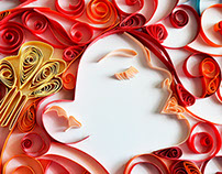 Moulin Rouge Quilling Paper