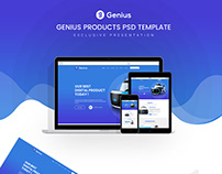 Genius Product PSD Template