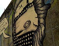 Herman Melville - Moby Dick / Streetart