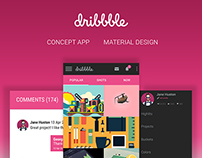 DRIBBBLE Concept App Material Design Android