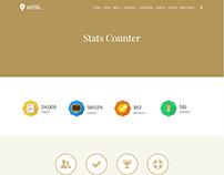 Status Counter - Hotel WordPress Theme