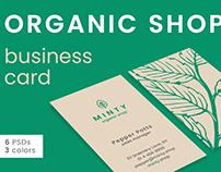Organic Shop Business Card Template