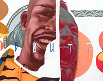 Graffiti and mural art by Tigrohaud crew