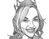 «My Queen» graphite portrait