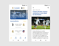 Football Android Application Concept | Real Madrid