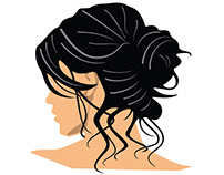Woman with black hair vector image