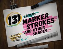 Handmade Marker Pen Strokes