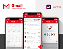 Gmail e-mail client Redesigning challenge - UI/UX