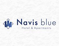 Navis blue, Hotel & Apartments brand identity