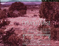 cover for Audio Poem - Driving West