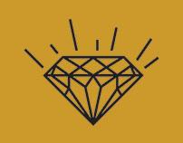HUFFMAN JEWELERS — logo design