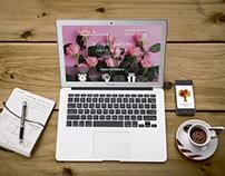 Web-design.Landing page for on-line flowers sales shop.